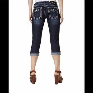 Miss Me Cuffed Capri Jeans